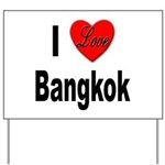 I Love Bangkok Thailand Yard Sign