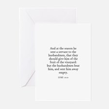 LUKE  20:10 Greeting Cards (Pk of 10)