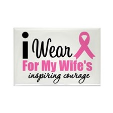 I Wear Pink Rectangle Magnet (10 pack)