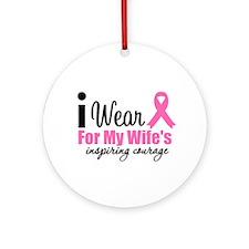 I Wear Pink Ornament (Round)