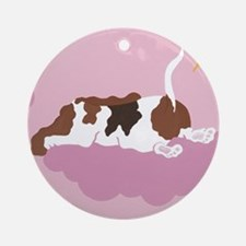 Basset on Cloud Ornament (Round)