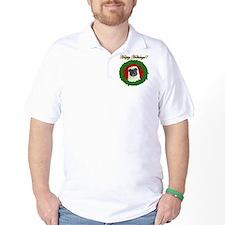 Happy Holidays Pug T-Shirt
