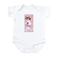 Basset Hound Ballerina Infant Bodysuit