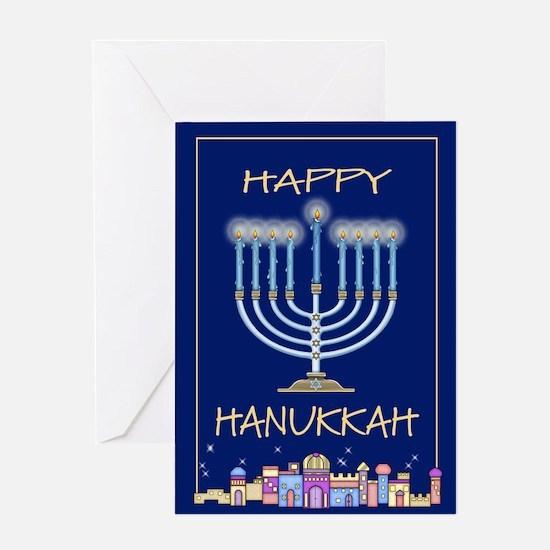 Happy Hanukkah City Greeting Card