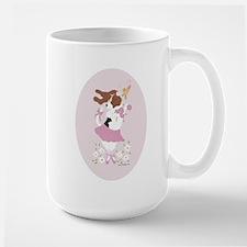 Basset Hound Ballerina Oval Mug