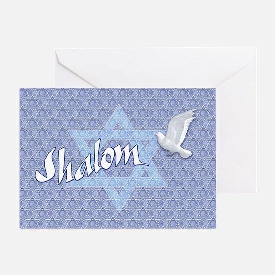 Shalom with Dove (bg) Greeting Card
