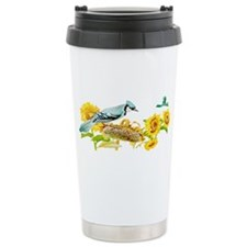 Blue Jay Bird Travel Mug