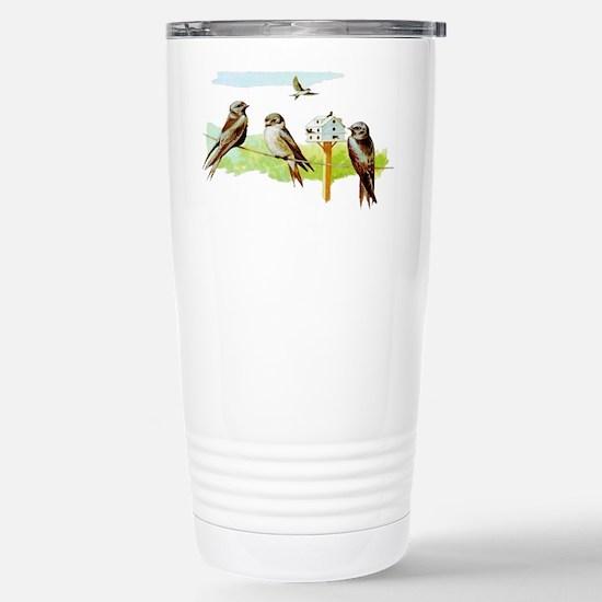 Purple Martin Bird Stainless Steel Travel Mug
