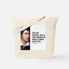 """Byron """"Like Measles"""" Tote Bag"""