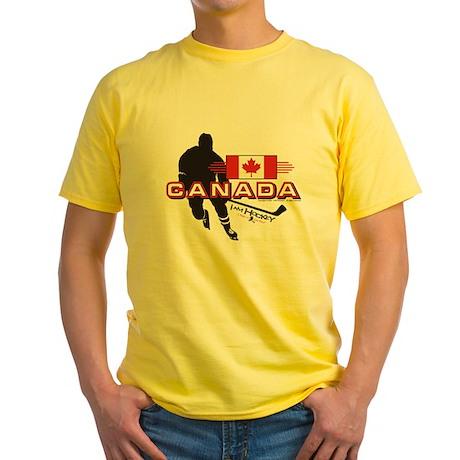 I AM HOCKEY CANADA 2 Yellow T-Shirt
