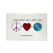 Peace and Love on Earth Rectangle Magnet