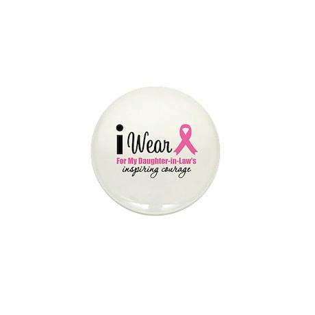 I Wear Pink Mini Button