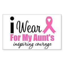 I Wear Pink Rectangle Sticker 10 pk)