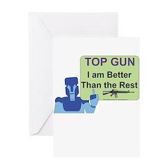 Top Gun Gamer Greeting Card