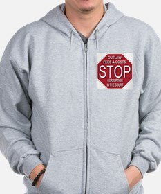 STOP Corruption In The Court Zip Hoodie