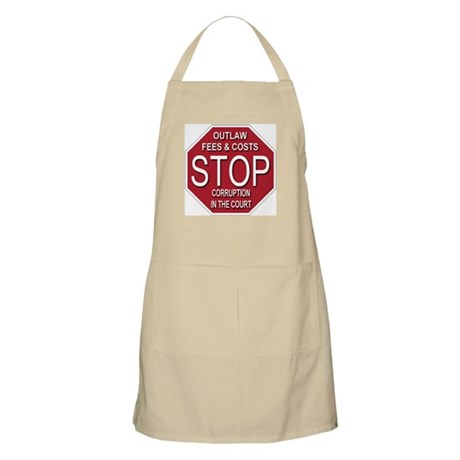 STOP Corruption In The Court BBQ Apron