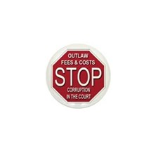STOP Corruption In The Court Mini Button (10 pack)