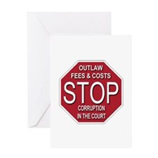 STOP Corruption In The Court Greeting Card