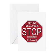 STOP Corruption In The Court Greeting Cards (Pk of