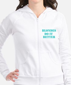 Blondes Do It Better Fitted Hoodie