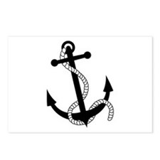 Rockabilly Tattoo Anchor Postcards (Package of 8)