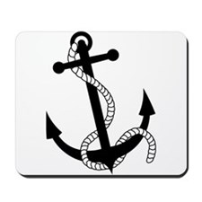 Rockabilly Tattoo Anchor Mousepad