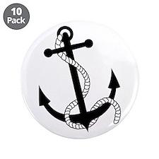 """Rockabilly Tattoo Anchor 3.5"""" Button (10 pack)"""