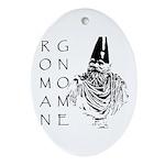 The Roman Gnome Oval Ornament