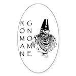 The Roman Gnome Oval Sticker