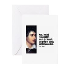 "Byron ""Intoxication"" Greeting Cards (Pk of 10)"