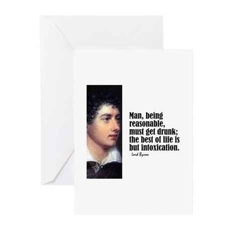 """Byron """"Intoxication"""" Greeting Cards (Pk of 10)"""
