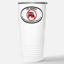 No RINOs Oval Design Travel Mug