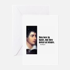 "Byron ""Love In Haste"" Greeting Cards (Pk of 10)"
