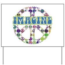 Imagine World Peace Yard Sign