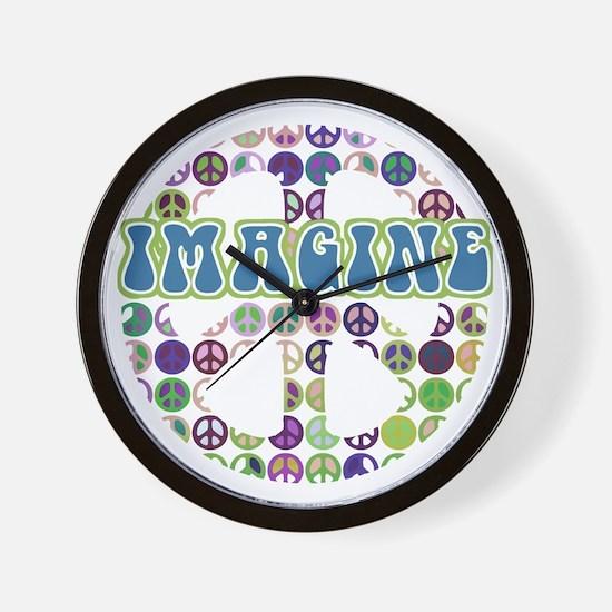 Imagine World Peace Wall Clock