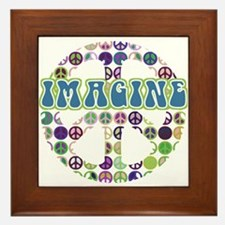 Imagine World Peace Framed Tile