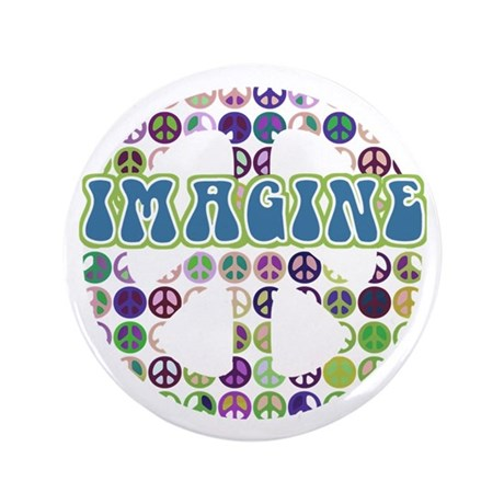 "Imagine World Peace 3.5"" Button (100 pack)"