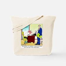 In the Eye of the Manipulator Tote Bag