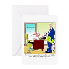 In the Eye of the Manipulator Greeting Card