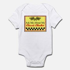 """""""Ask About My Checker"""" Infant Bodysuit"""