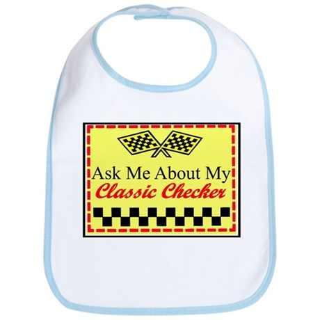 """Ask About My Checker"" Bib"
