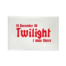 Twilight I was there UK Rectangle Magnet