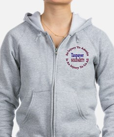 Two Sided Pro Taxpayer Zip Hoodie