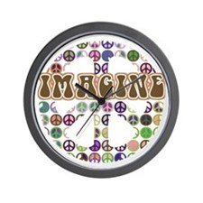 Imagine Peace On Earth Wall Clock