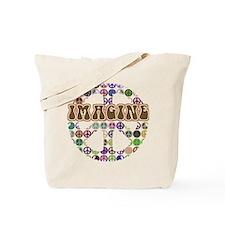 Imagine Peace On Earth Tote Bag