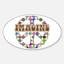 Imagine Peace On Earth Oval Decal