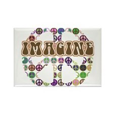 Imagine Peace On Earth Rectangle Magnet