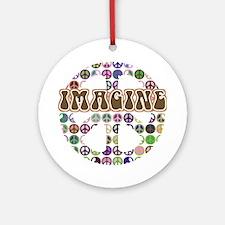 Imagine Peace On Earth Ornament (Round)