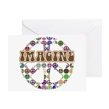 Imagine Peace On Earth Greeting Card