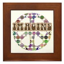 Imagine Peace On Earth Framed Tile